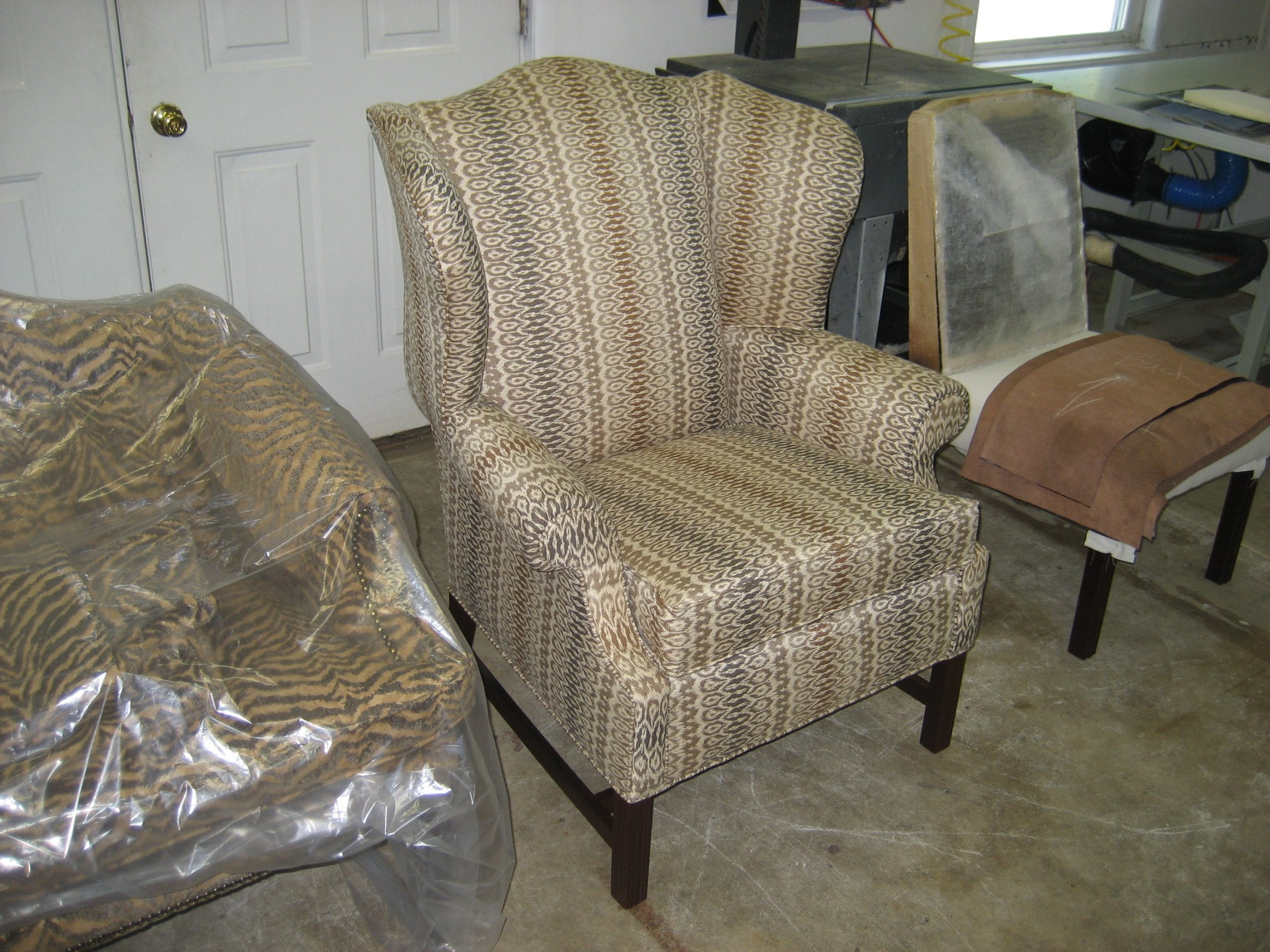 Wingback Chair Upholstery Shop Quality Reupholstery