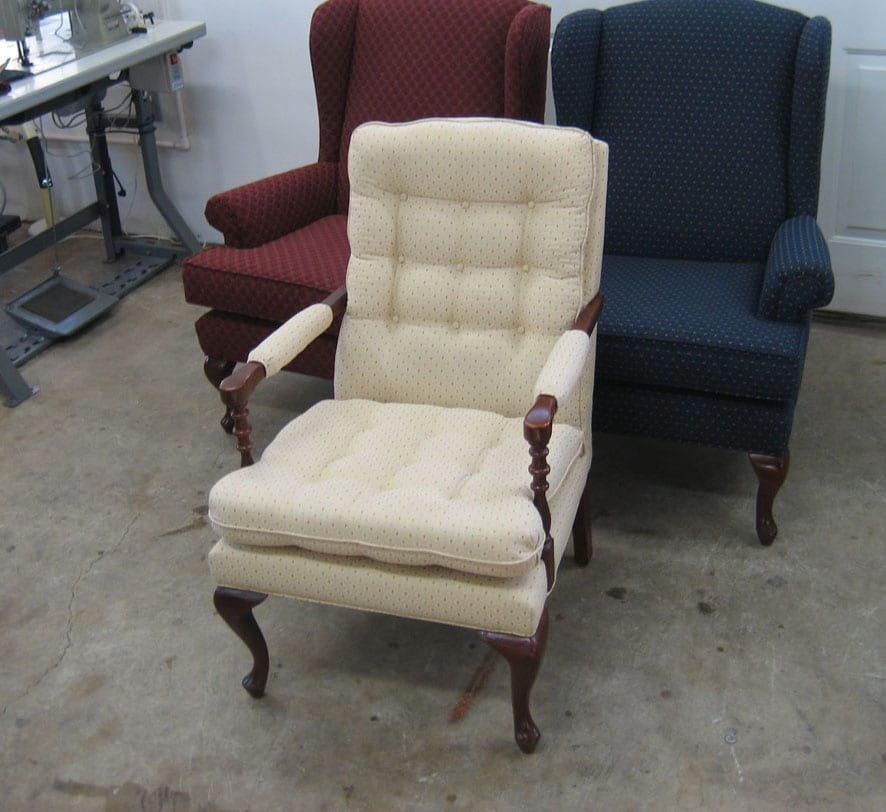 Reupholstery And Repair For Classic Chair Upholstery