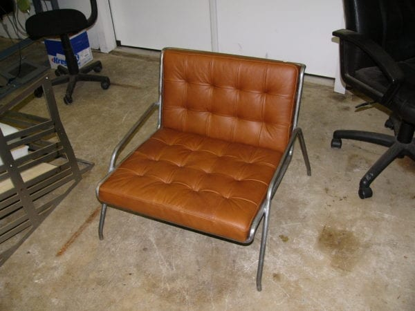 Channel Back Chair Velour Fabric Upholstery Upholstery