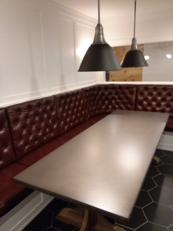 Custom Built Leather Corner Dining Seating