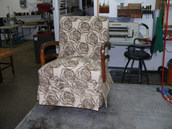 Mid Century Style Rocker Springs Chair Full Reupholstery