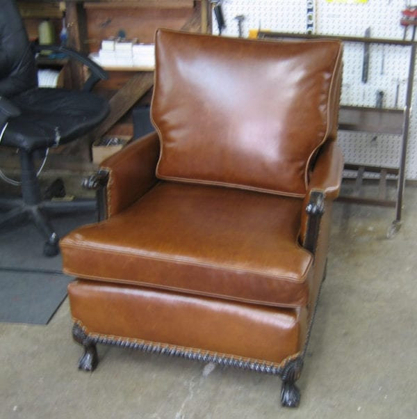 Antique Club Chair Restoration & Two Colonial Style Antique Chairs Restoration u2013 Upholstery Shop ...