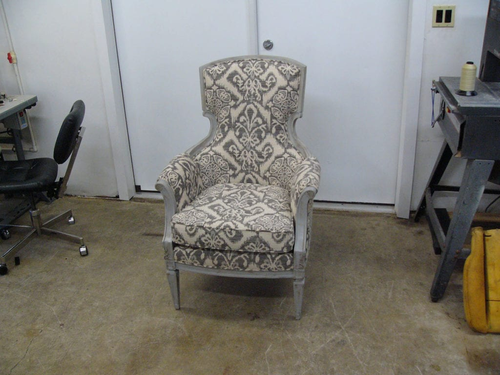 A Victorian Style Chair Complete Restoration Upholstery