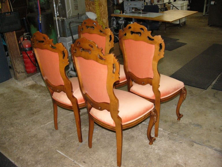 Antique Italian Victorian Style Dining Room Chair Set