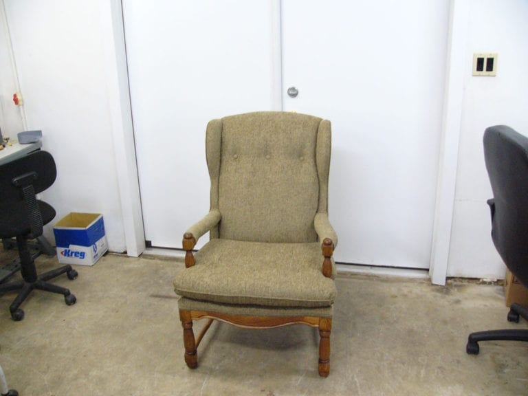 Antique Wingback Chair - Antique Wingback Chair – Upholstery Shop – Quality Reupholstery
