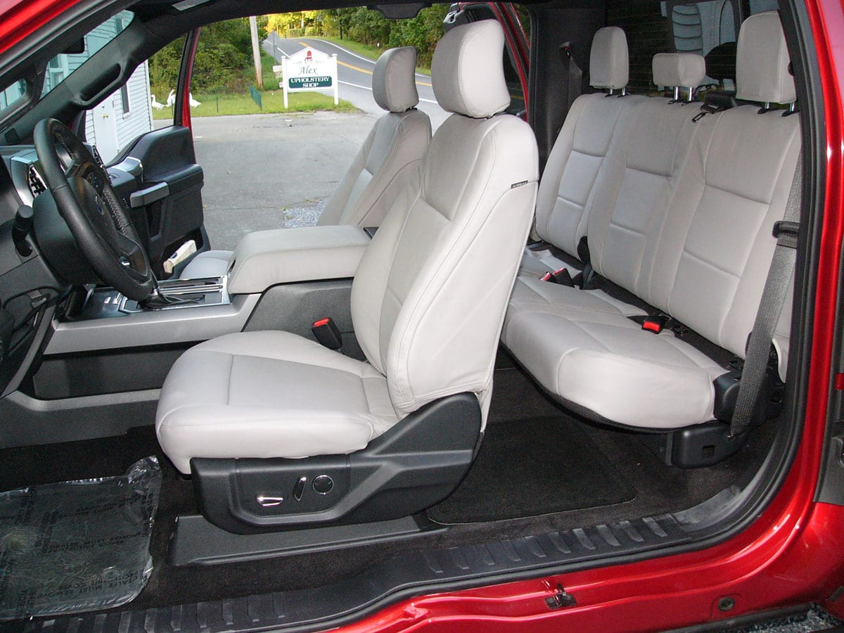 2016 Ford F150 Truck Reupholstered To Lather Seats