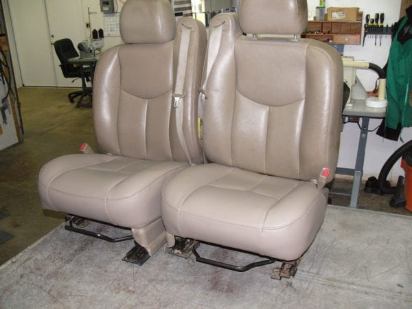 Chevrolet 350 Truck Front Seat Reupholstery