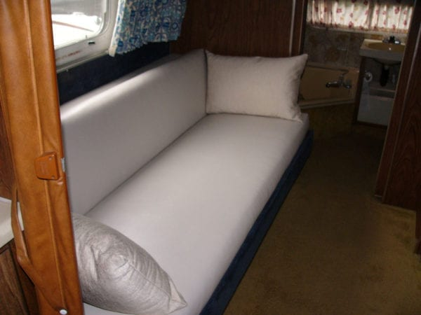 RV Sofa Bed Upholstery Repair