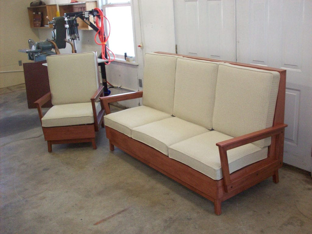 Contemporary Style Couch And Chair Set Eco Friendly Upholstery