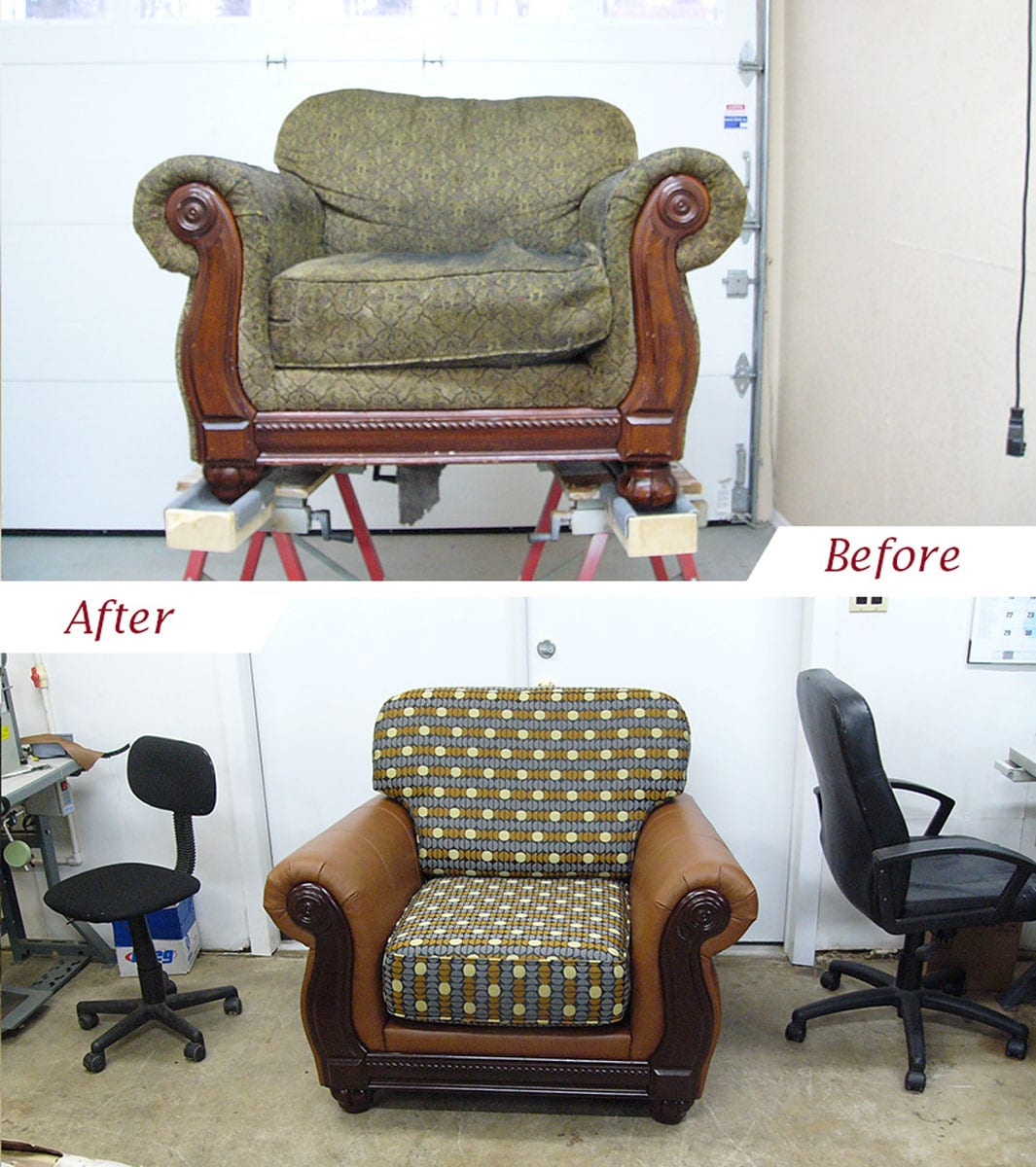 Upholstery Furniture Repair: Living Room Chair Restoration With Customized Upholstery