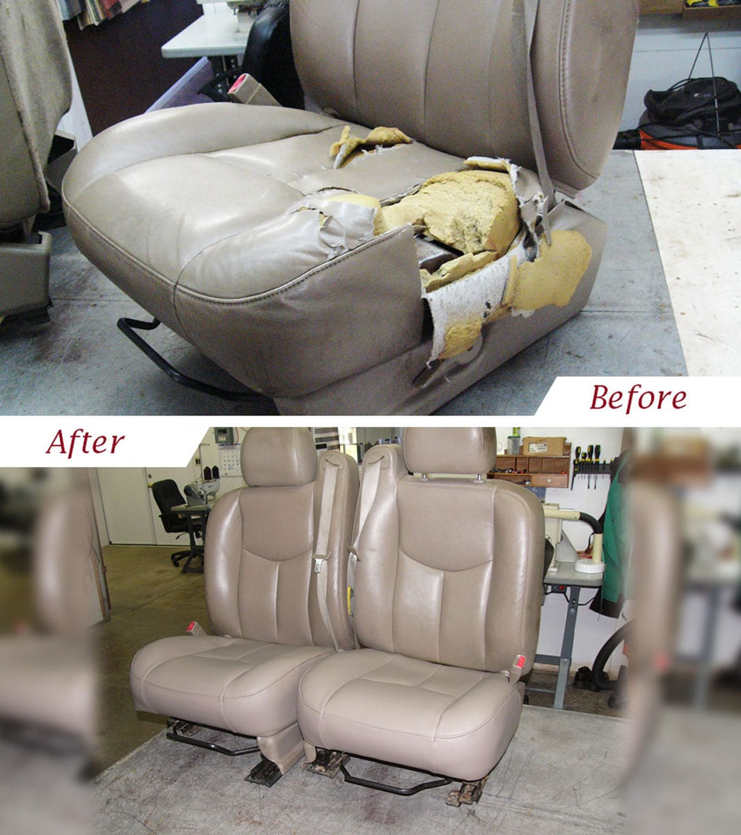 truck upholstery before and after www topsimages com rh topsimages com