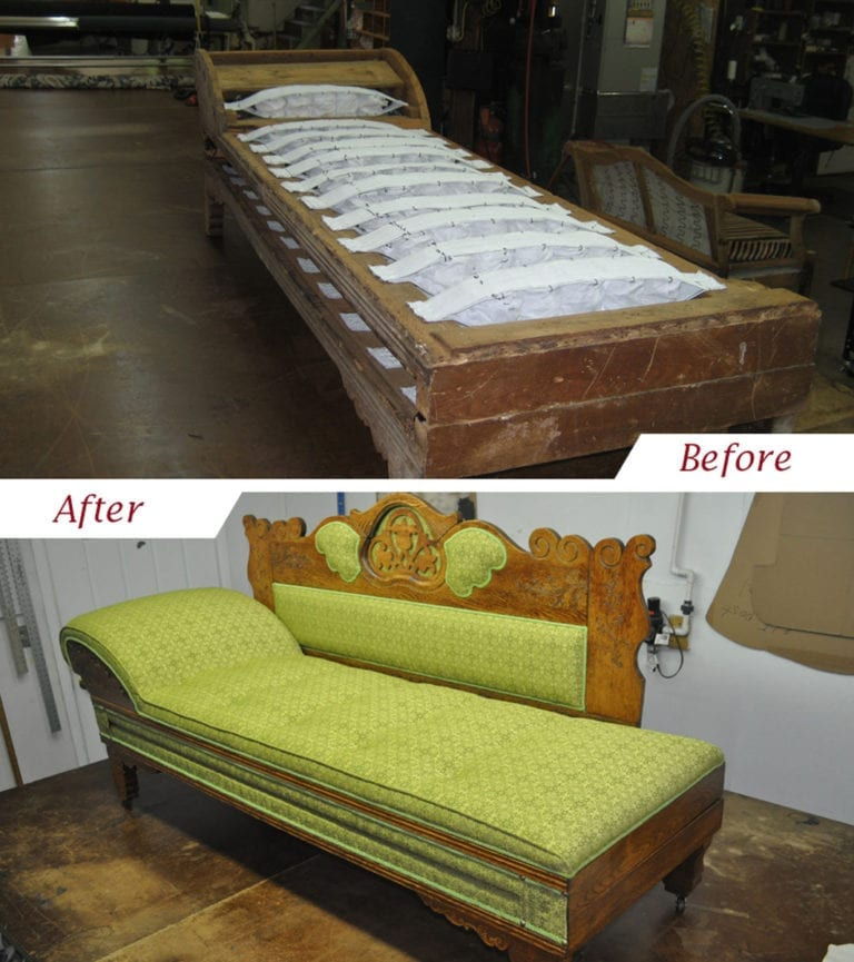 Antique Fainting Sofa Upholstery Shop Quality Reupholstery Restoration