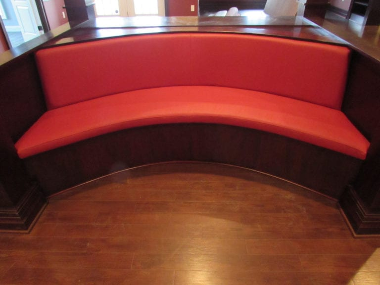 A Custom Round Booth His Interior