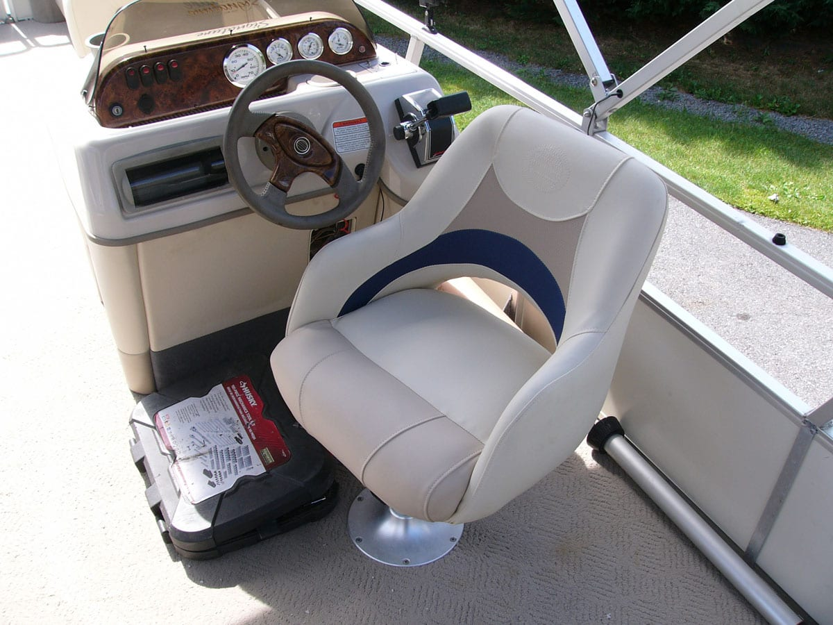 Reupholstery of sun tracker interior upholstery shop quality reupholstery restoration for How to restore a boat interior