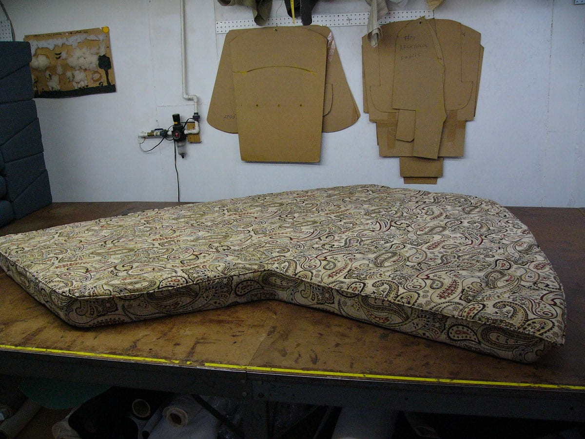 New Interior Cushion For Boat Upholstery Upholstery Shop Quality Reupholstery Restoration