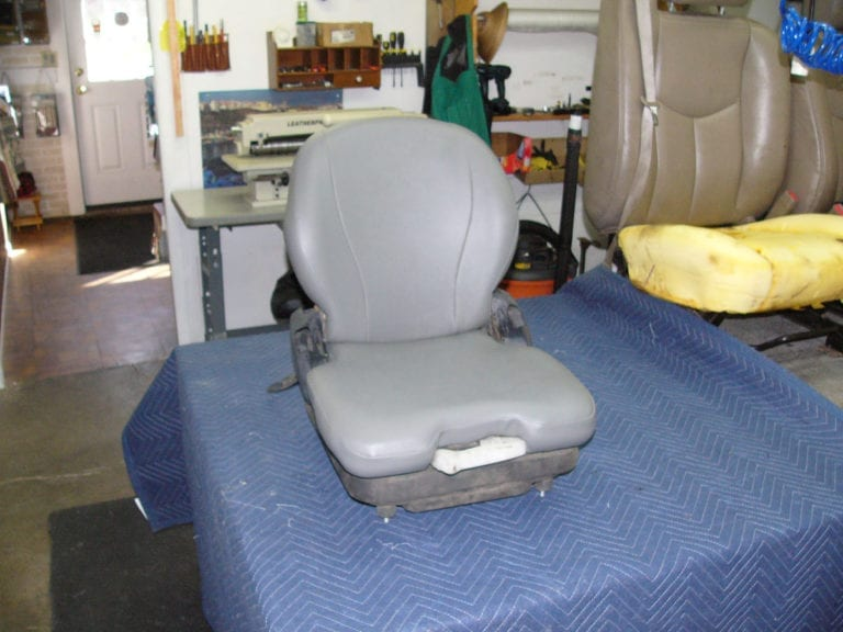 Skid Loader Seat Reupholstery