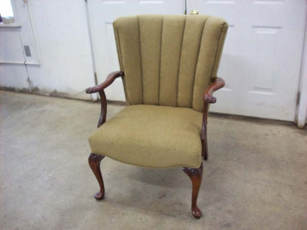 A Channel Back Chair Complete Re-Upholstery