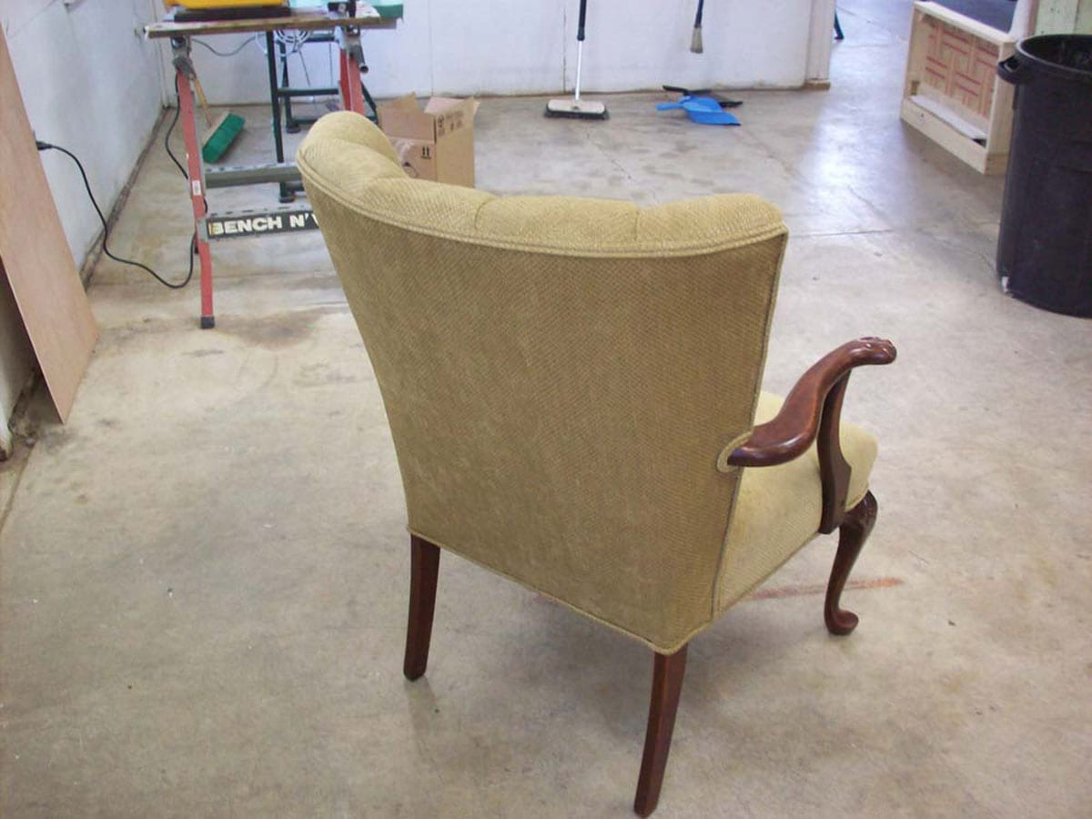 A Channel Back Chair Complete Re Upholstery Upholstery