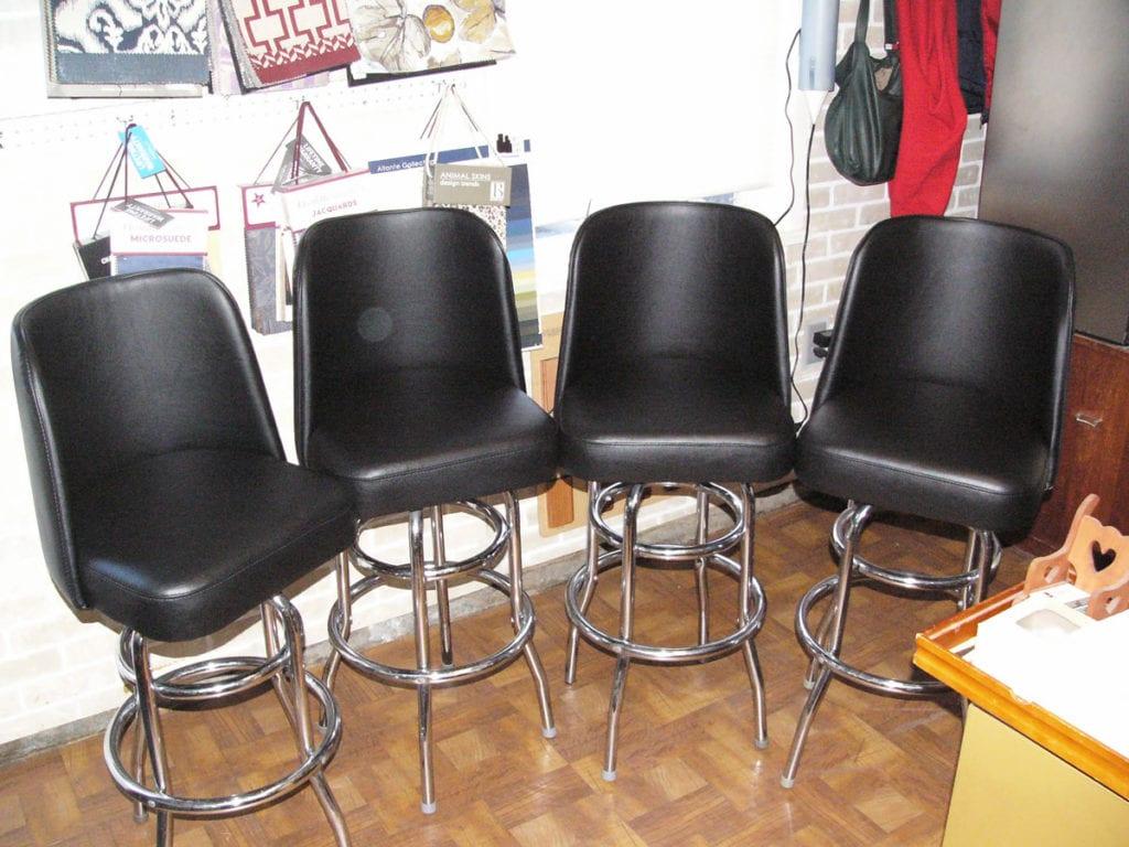 Bar stools reupholstery and repair upholstery shop