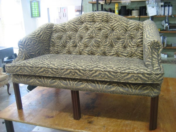 Chippendale loveseat sofa