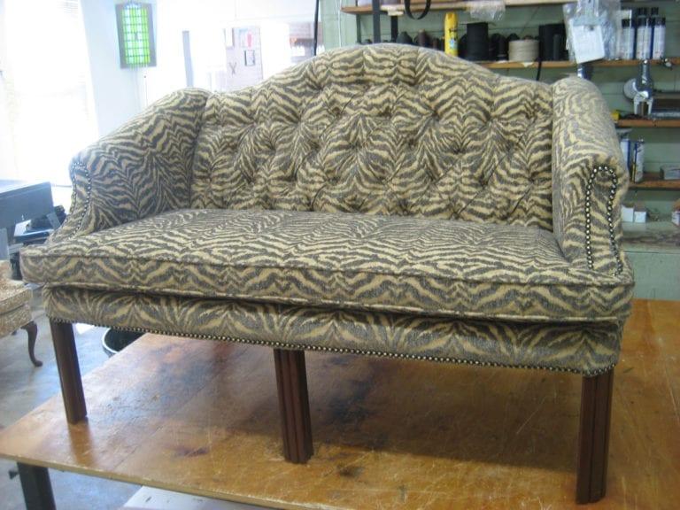 Chippendale loveseat sofa