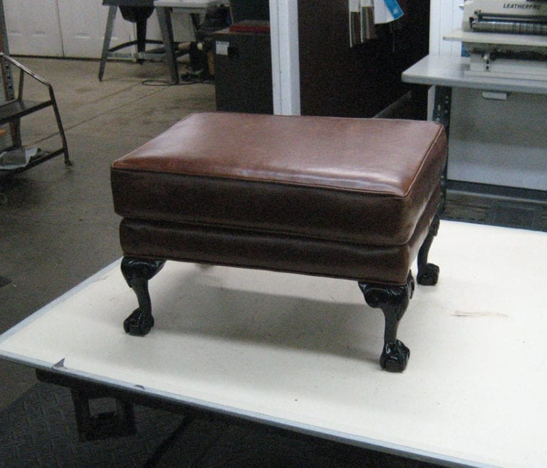 Ottoman Reupholstery and Repair