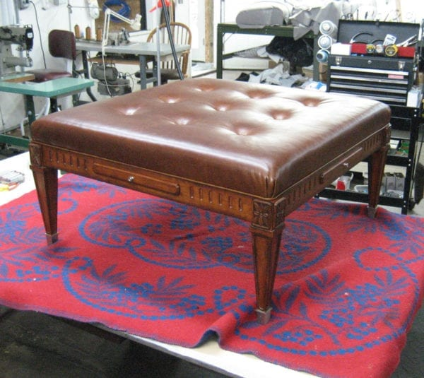 Ottoman Upholstery Project