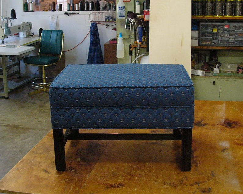 Wrapping Ottoman Upholstery In Beautiful Fabric