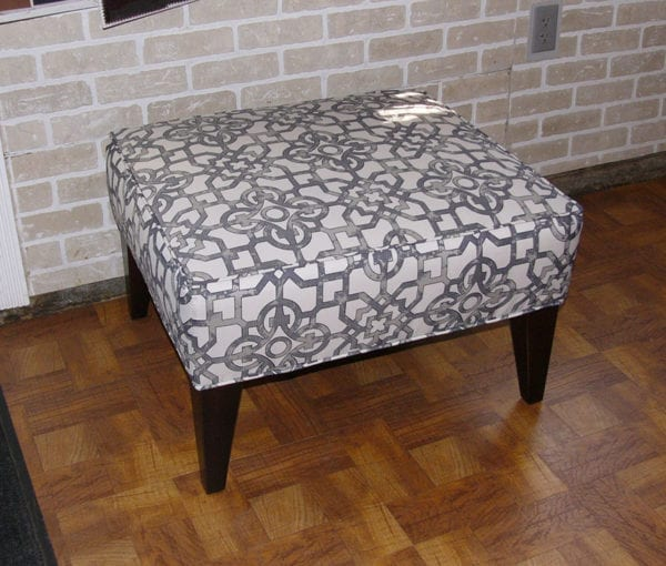 Ottoman Upholstery In Designer Fabric