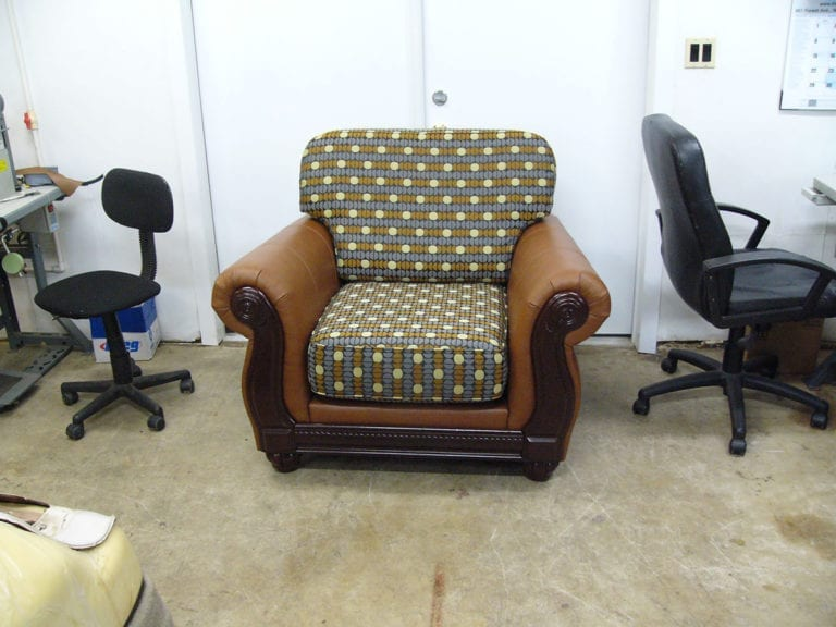 Living Room Chair Restoration With Customized Upholstery
