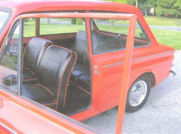 1967 Sunbeam imp Reupholstery