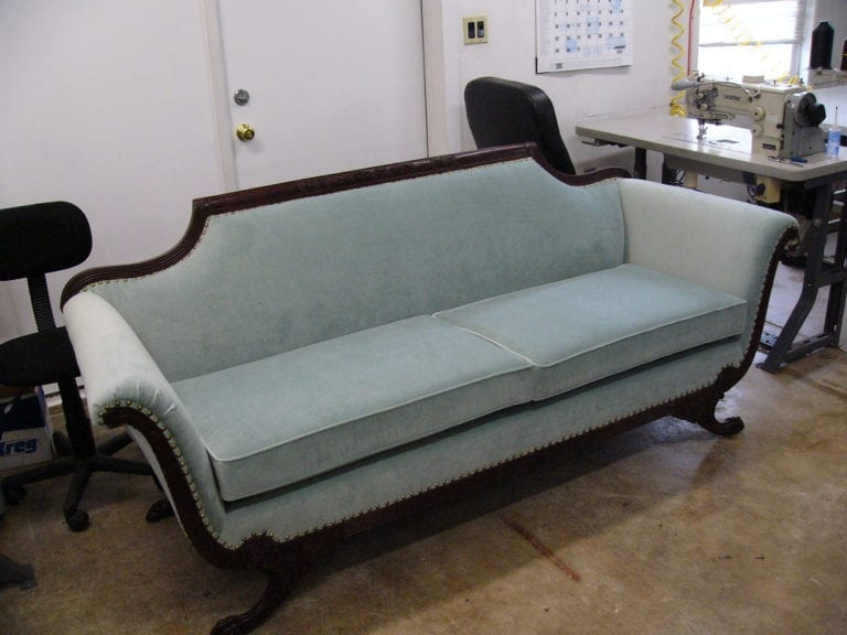 Victorian Style Sofa Restoration and Upholstery