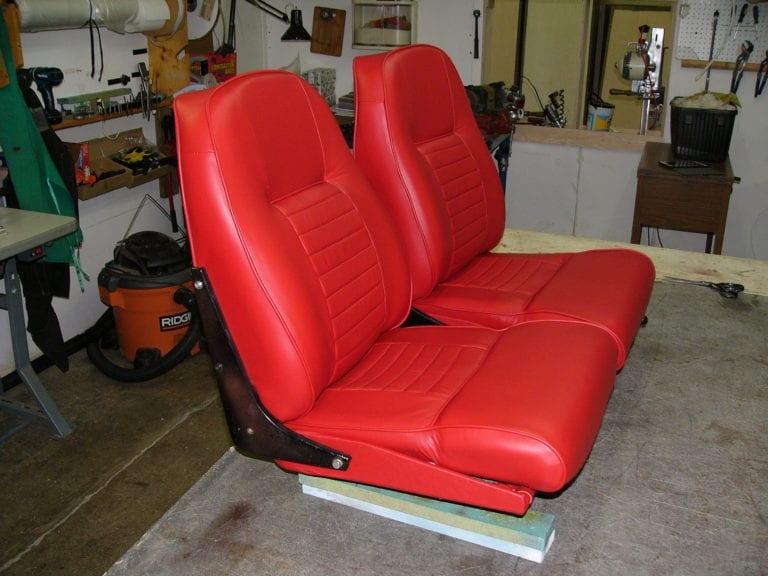 1960 Red Leather Volvo Seats Restoration