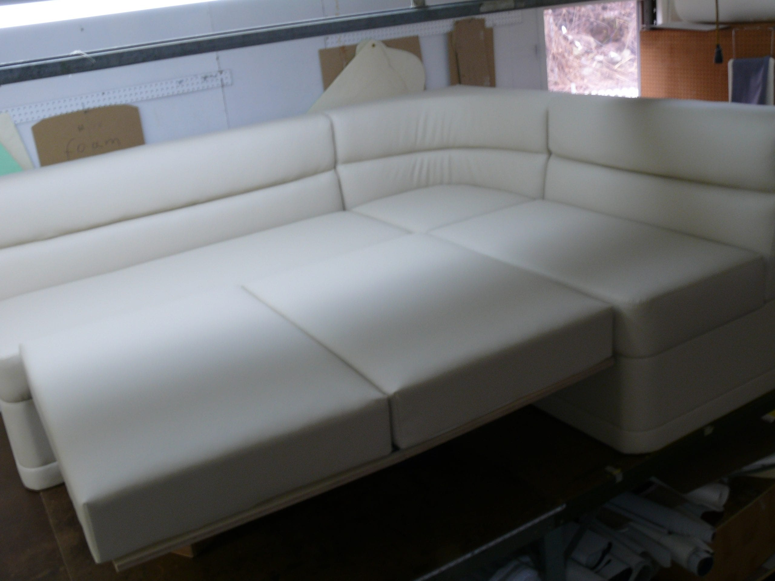 Custom Corner Sofabed For Ocean Boat Upholstery Shop