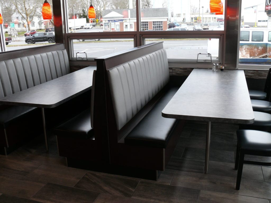 Restaurant Booth For Tosco Pizza Upholstery Shop