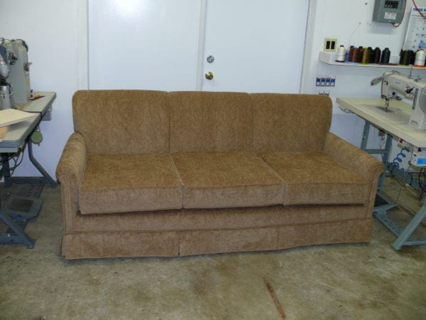 Completely Reupholstery Heirloom family sofa