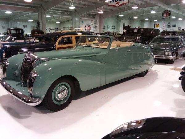 Leather Reupholstery On  Daimler De The Green Goddess