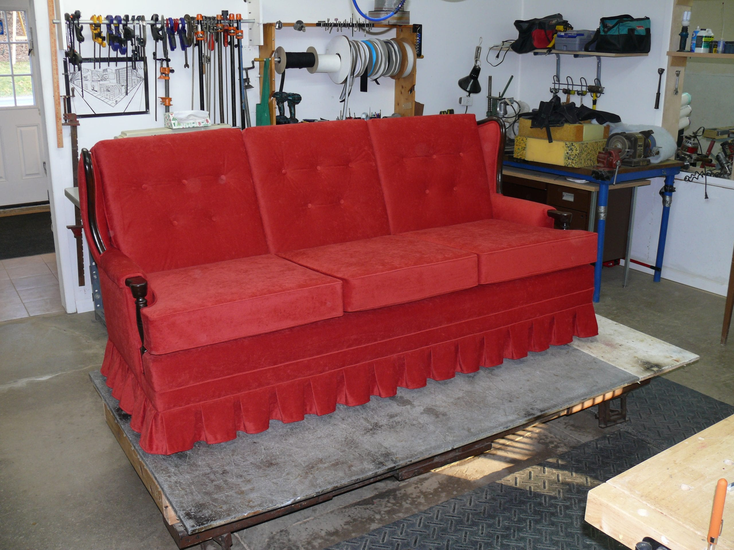 Used Leather Couch Chair And Ottoman