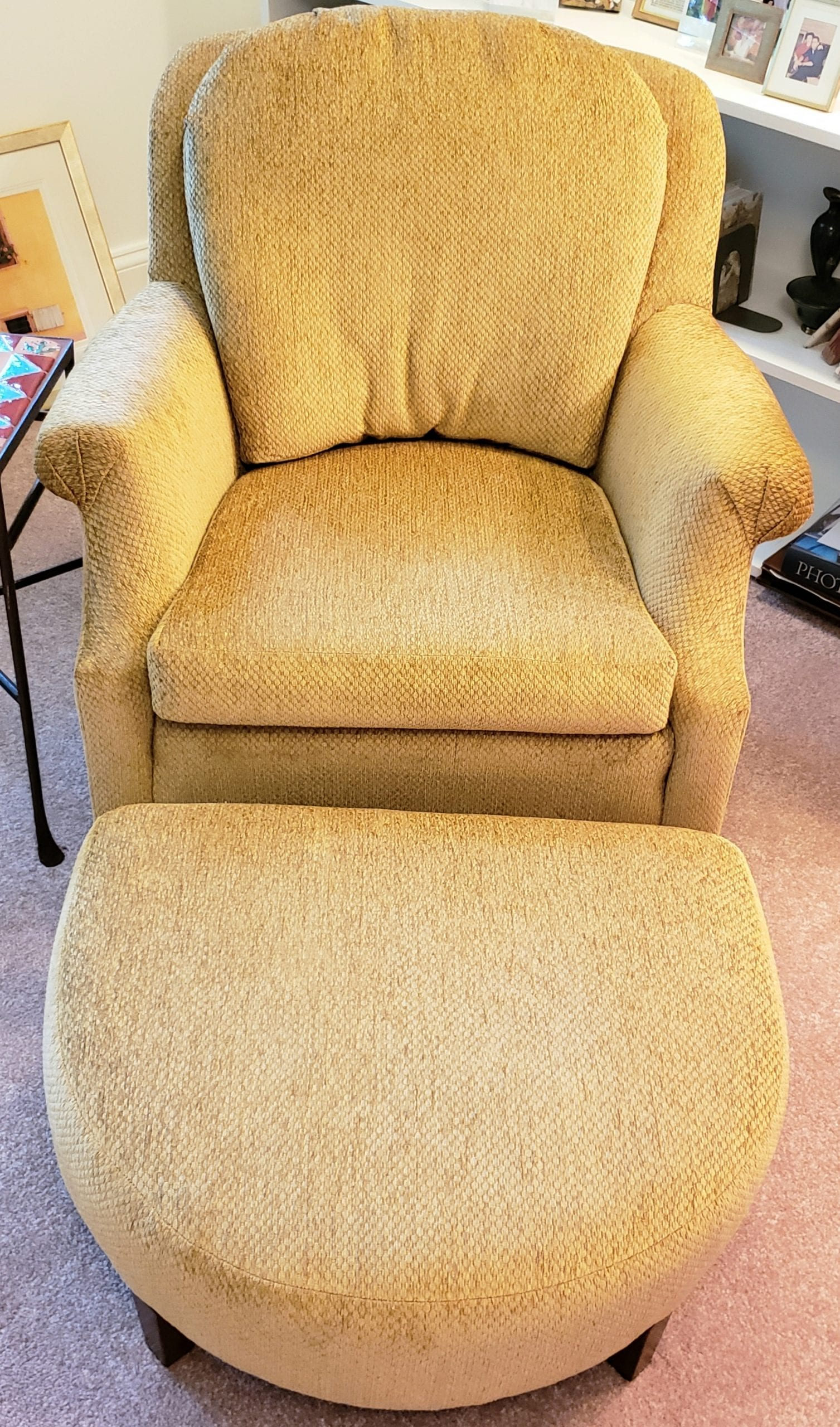 Mid Century Chair And Ottoman With Coil Spring